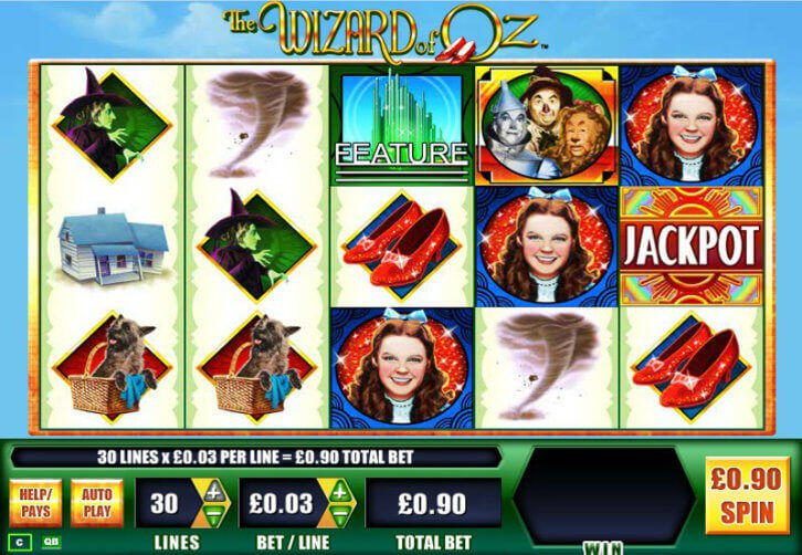 play the wizard of oz slot machine