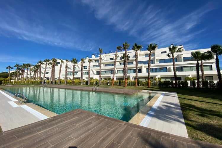 Hinojo Apartments for Sale in Las Colinas - Apartment Complex Front - Luxury Property for Sale in Las Colinas Golf & Country Club