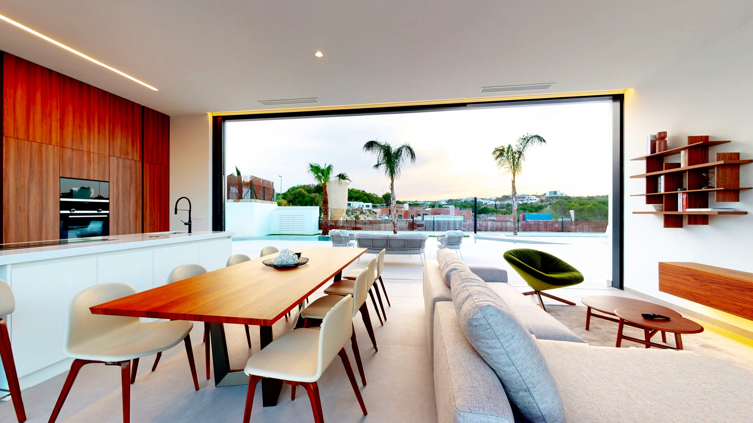 Villa-Eliseo-dining-room-and-living-room-las-colinas-golf-and-country-club